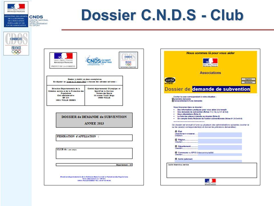 Dossier C.N.D.S - Club