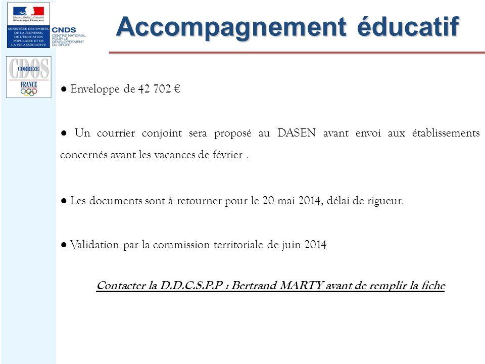 Accompagnement éducatif Enveloppe de 42 702 Un courrier conjoint sera proposé au DASEN avant envoi aux établissements concernés avant les vacances de