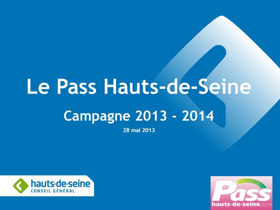 Pôle Education, Sport et Jeunesse Direction des Actions éducatives 1 Le Pass Hauts-de-Seine Campagne 2013 - 2014 28 mai 2013