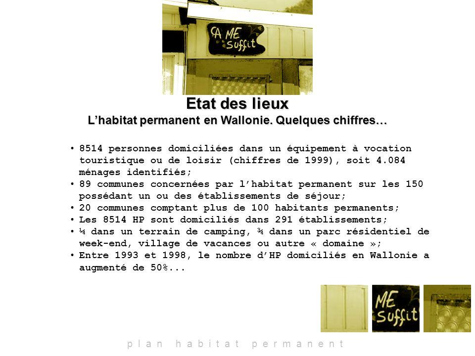 Etat des lieux Lhabitat permanent en Wallonie.