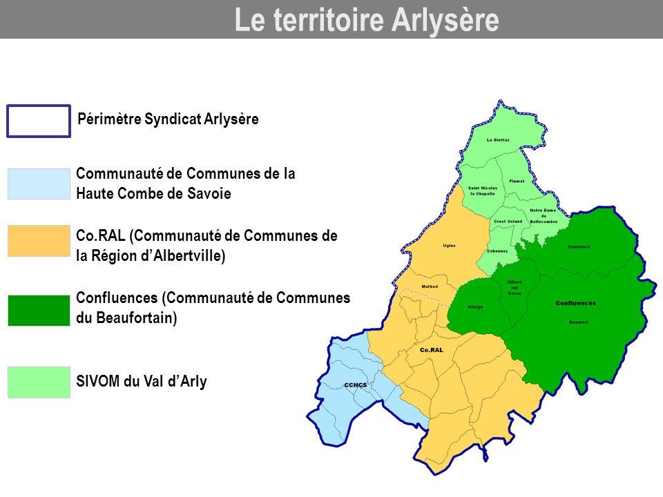 Communauté de Communes de la Haute Combe de Savoie SIVOM du Val dArly Périmètre Syndicat Arlysère Confluences (Communauté de Communes du Beaufortain)