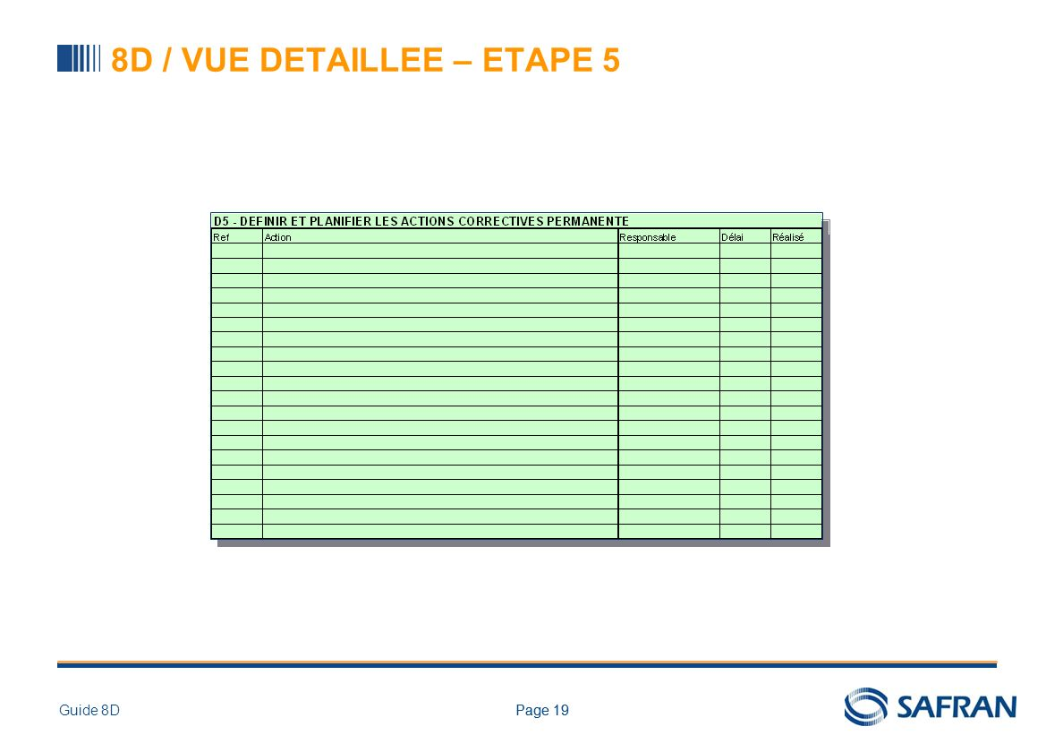 Page 19Guide 8DPage 19 8D / VUE DETAILLEE – ETAPE 5