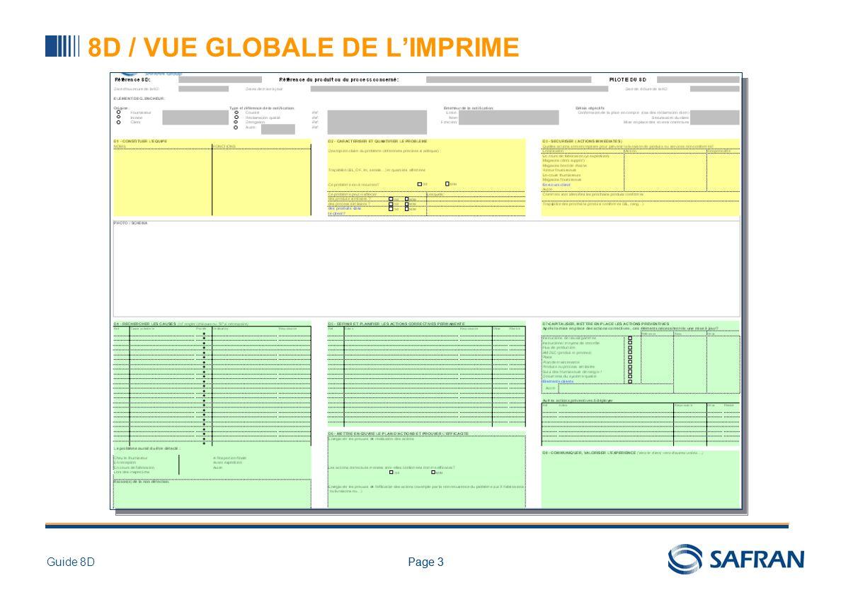 Page 3Guide 8DPage 3 8D / VUE GLOBALE DE LIMPRIME