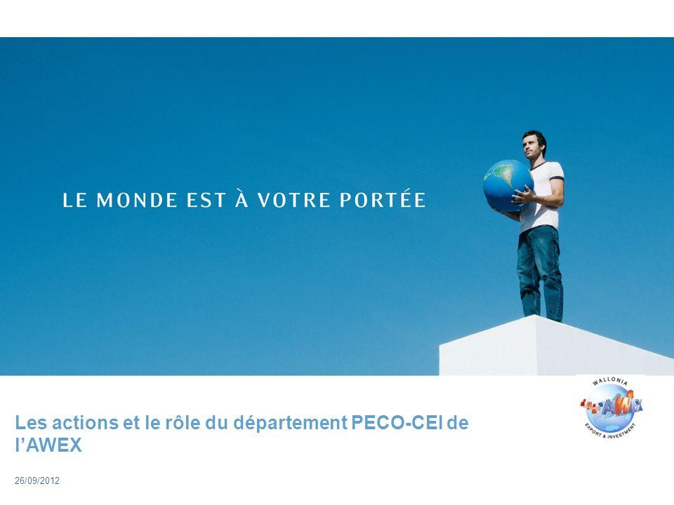 Les actions et le rôle du département PECO-CEI de lAWEX 26/09/2012