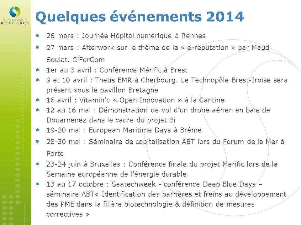 Quelques événements 2014 26 mars : Journée Hôpital numérique à Rennes 27 mars : Afterwork sur le thème de la « e-reputation » par Maud Soulat. CForCom