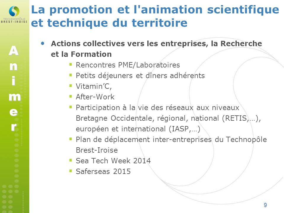 9 Actions collectives vers les entreprises, la Recherche et la Formation Rencontres PME/Laboratoires Petits déjeuners et dîners adhérents VitaminC, Af