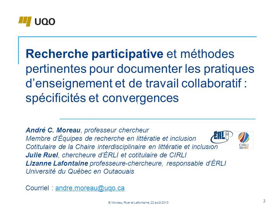 Recherche participative et méthodes pertinentes pour documenter les pratiques denseignement et de travail collaboratif : spécificités et convergences