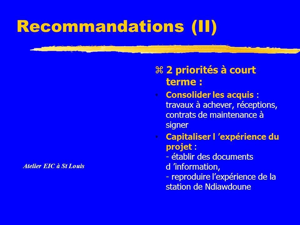 Recommandations (II) Instructions: Supprimez les exemples d icônes de document et remplacez-les par les icônes des documents de travail, comme suit : Créez un document dans Word.