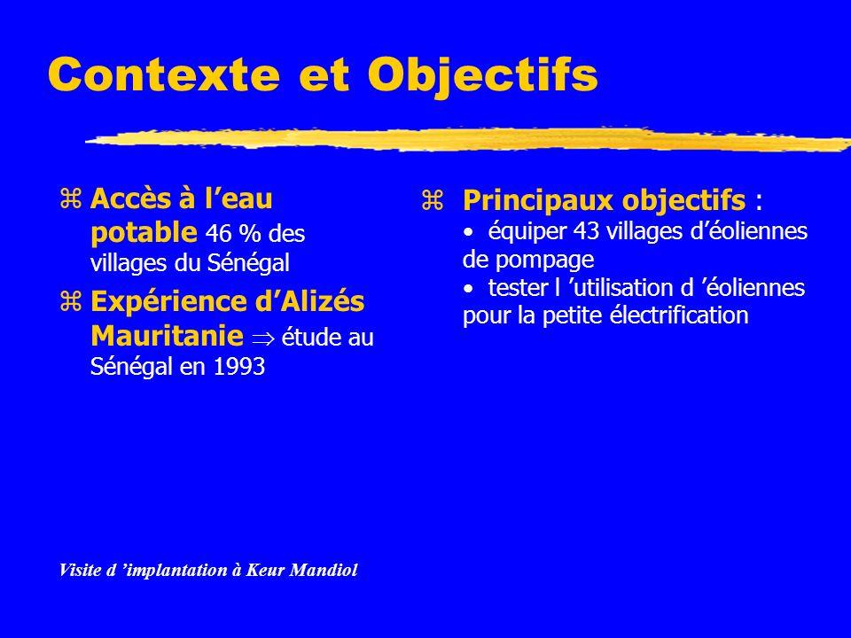 Contexte et Objectifs zAccès à leau potable 46 % des villages du Sénégal zExpérience dAlizés Mauritanie étude au Sénégal en 1993 Instructions: Supprimez les exemples d icônes de document et remplacez-les par les icônes des documents de travail, comme suit : Créez un document dans Word.