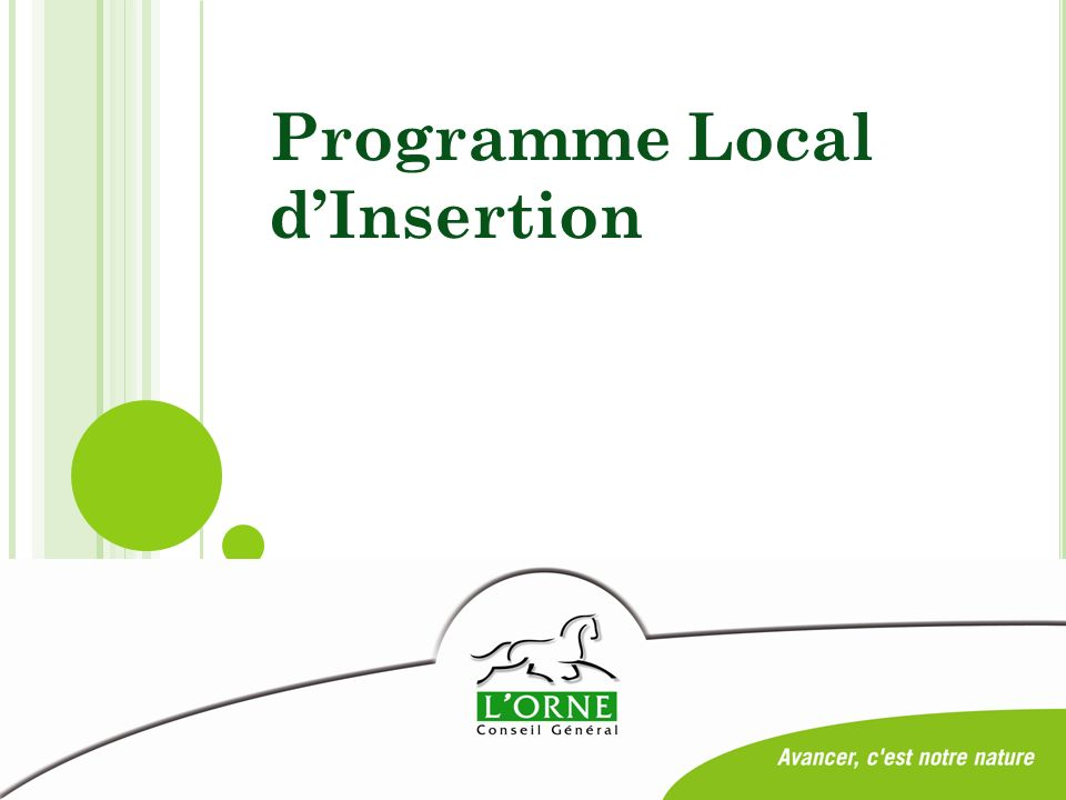 Programme Local dInsertion