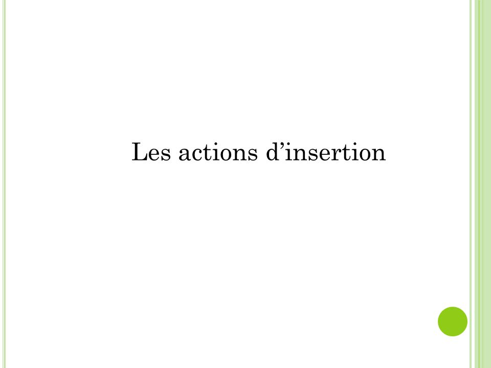 Les actions dinsertion