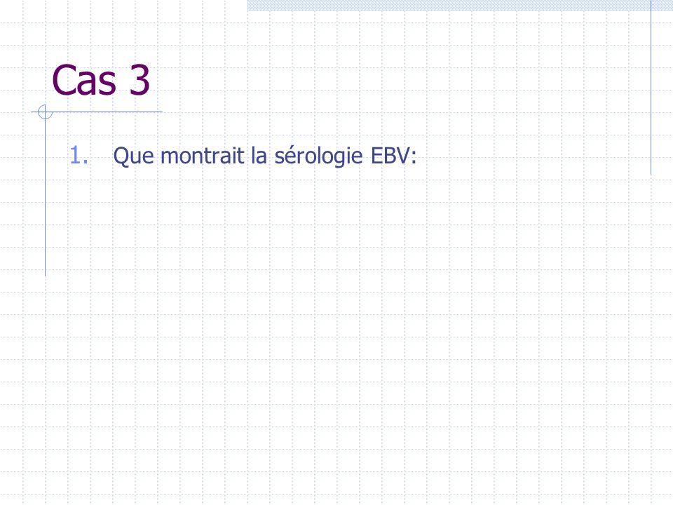 Cas 3 1. Que montrait la sérologie EBV: