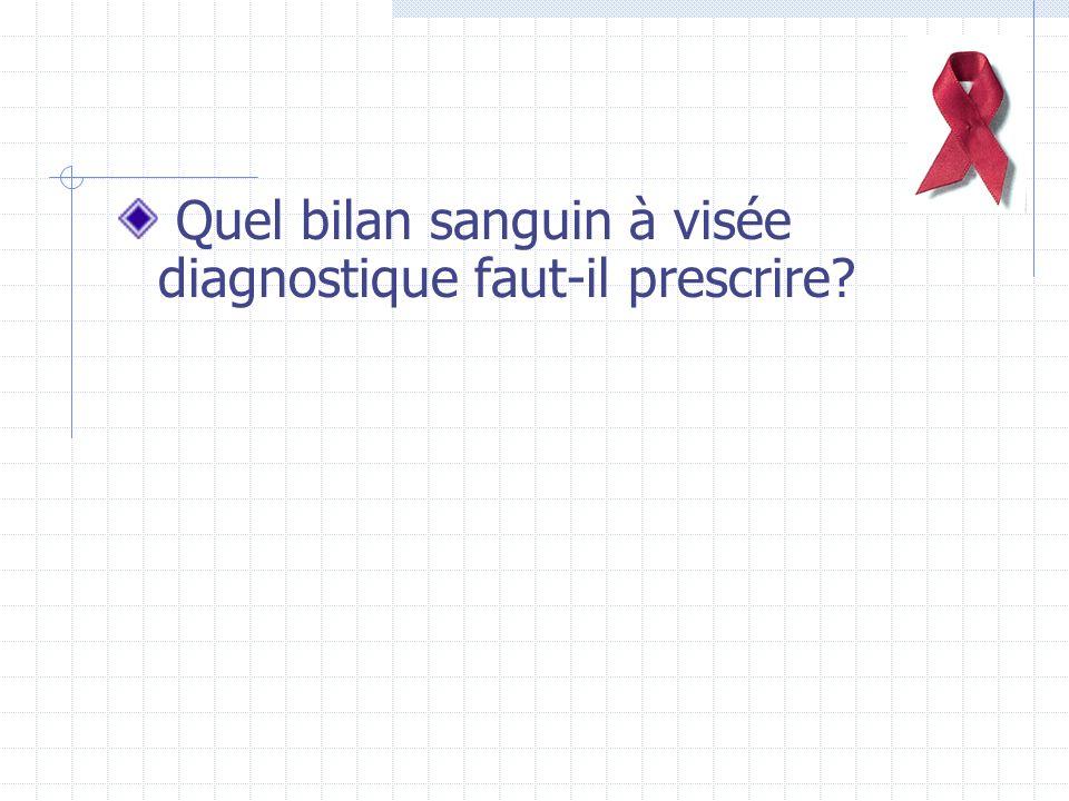 Quel bilan sanguin à visée diagnostique faut-il prescrire?