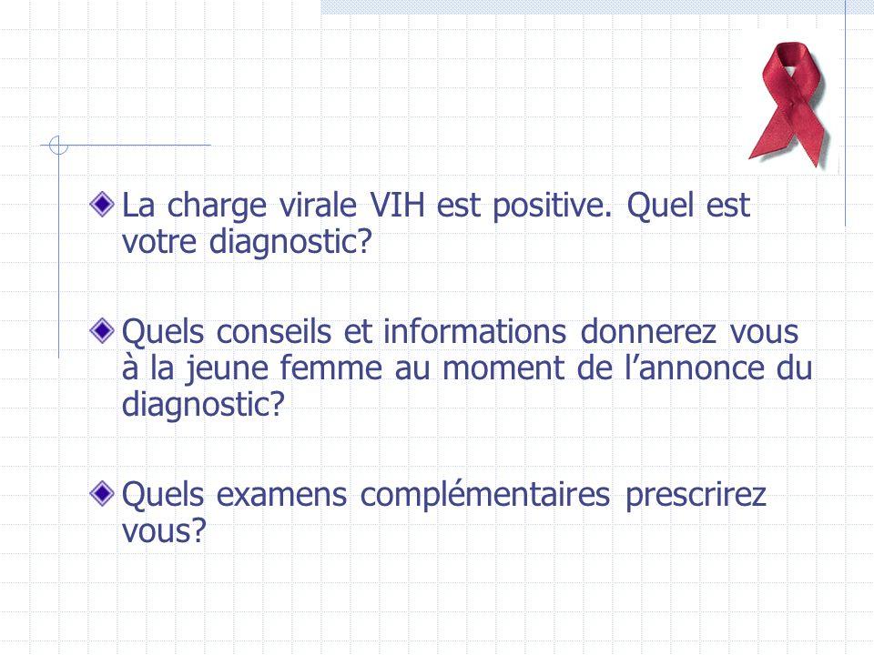 La charge virale VIH est positive.Quel est votre diagnostic.