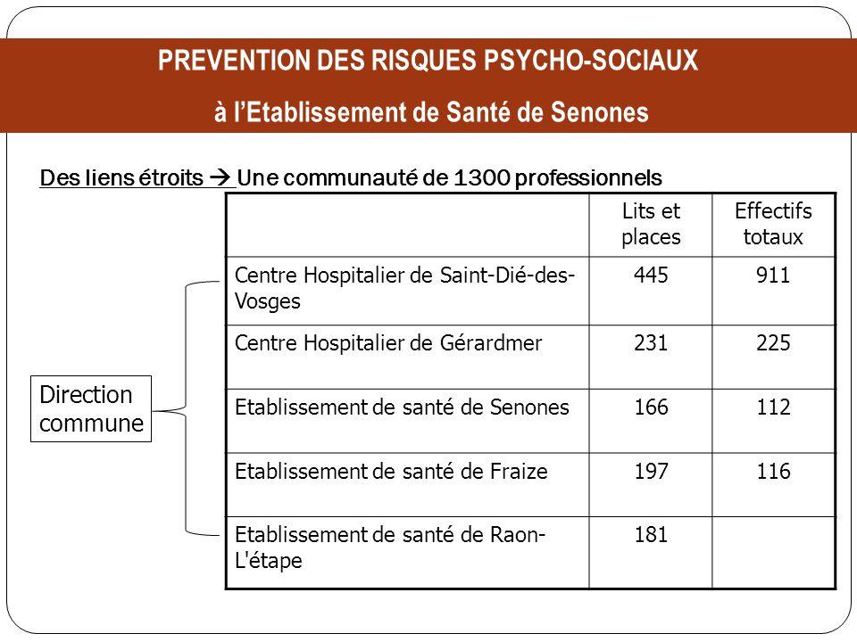 Des liens étroits Une communauté de 1300 professionnels Lits et places Effectifs totaux Centre Hospitalier de Saint-Dié-des- Vosges 445911 Centre Hosp