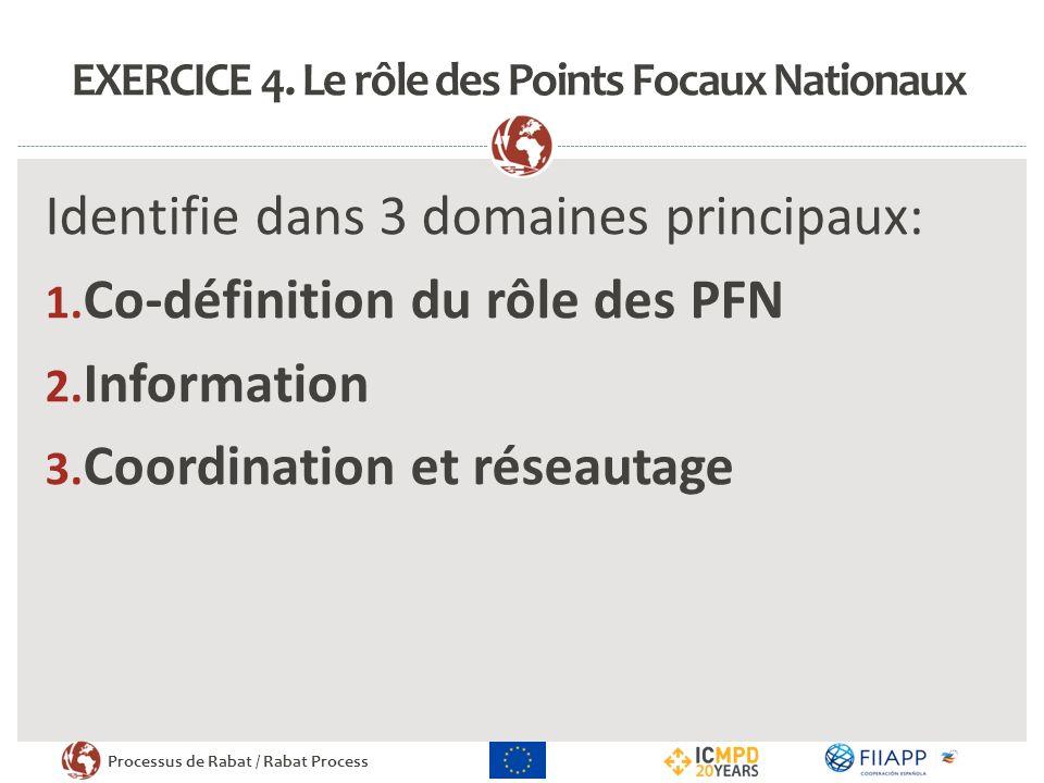 Processus de Rabat / Rabat Process EXERCICE 4.