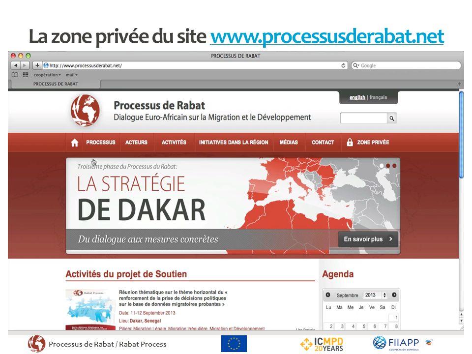 Processus de Rabat / Rabat Process La zone privée du site www.processusderabat.netwww.processusderabat.net