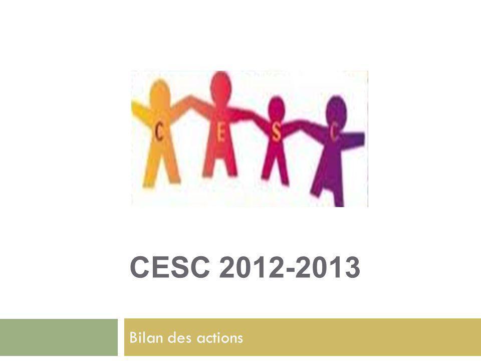 CESC 2012-2013 Bilan des actions