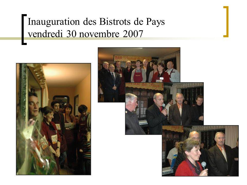 Inauguration des Bistrots de Pays vendredi 30 novembre 2007