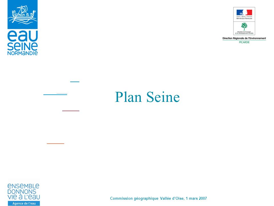 Commission Géographique des Vallées dOise - 1 er mars 2007 Pourquoi un plan Seine .