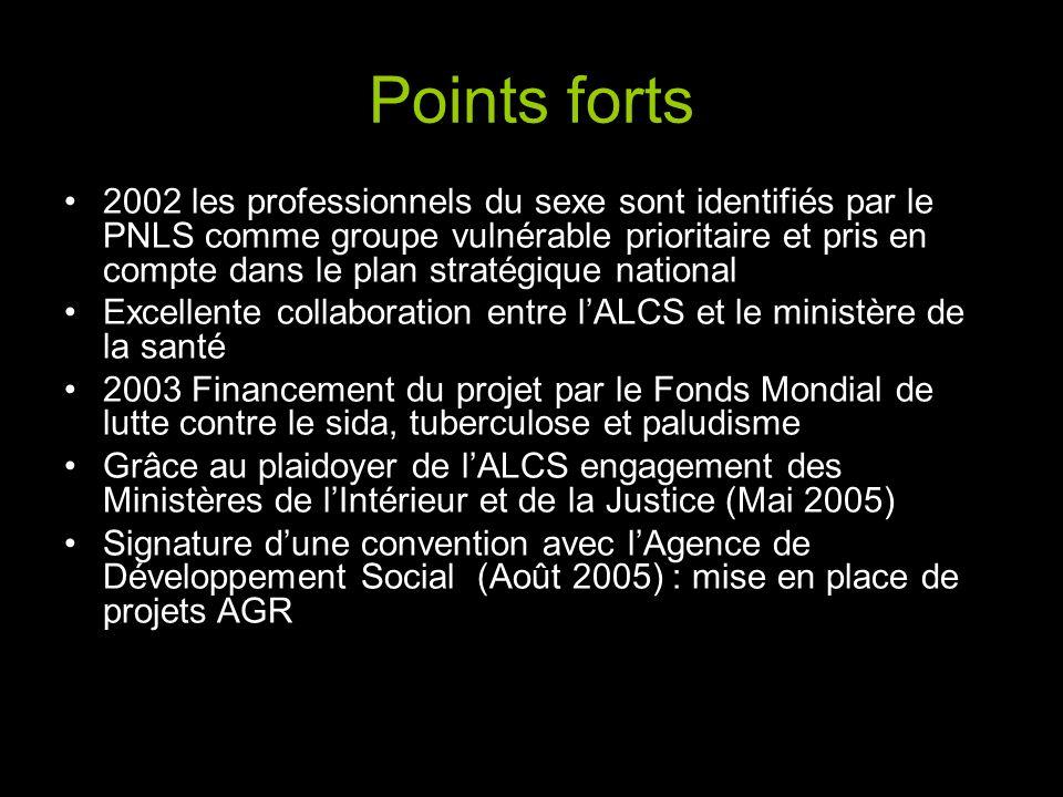 Points forts 2002 les professionnels du sexe sont identifiés par le PNLS comme groupe vulnérable prioritaire et pris en compte dans le plan stratégiqu
