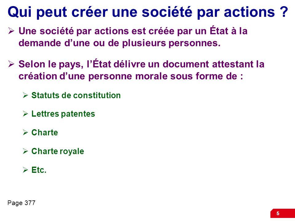 5 Qui peut créer une société par actions .