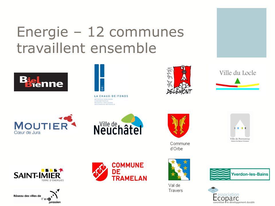 Energie – 12 communes travaillent ensemble Val de Travers Commune dOrbe