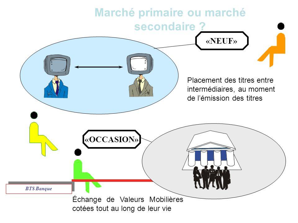 Marché primaire ou marché secondaire .