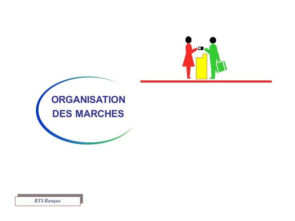 ORGANISATION DES MARCHES BTS Banque