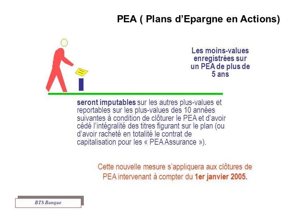 Cette nouvelle mesure sappliquera aux clôtures de PEA intervenant à compter du 1er janvier 2005.