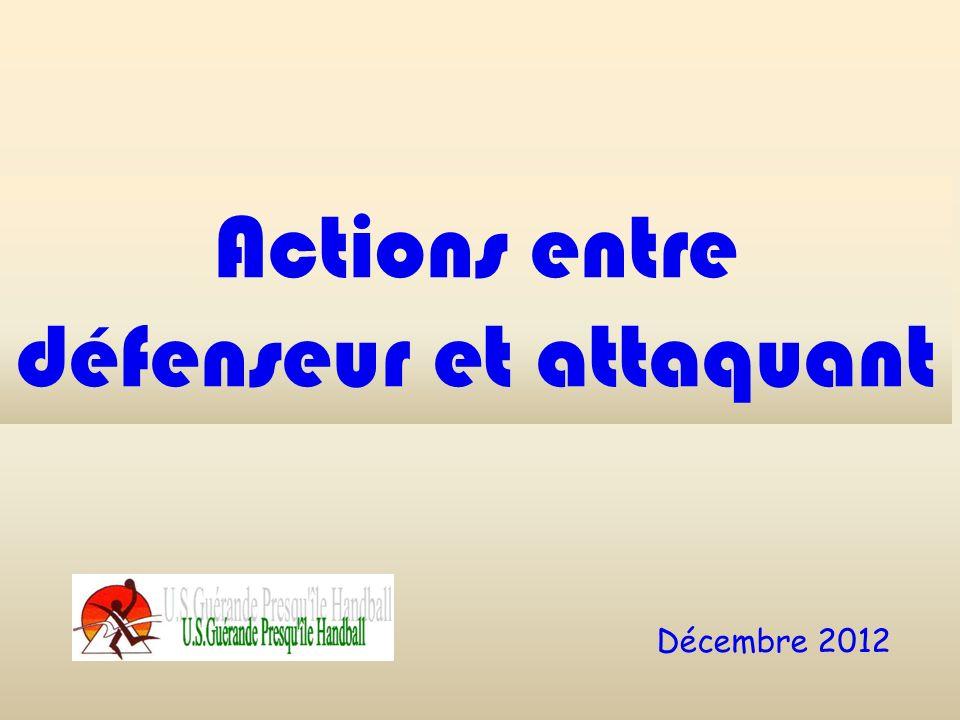 Actions entre défenseur et attaquant Décembre 2012