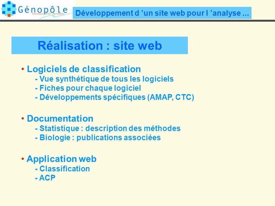Réalisation : site web Développement d un site web pour l analyse...