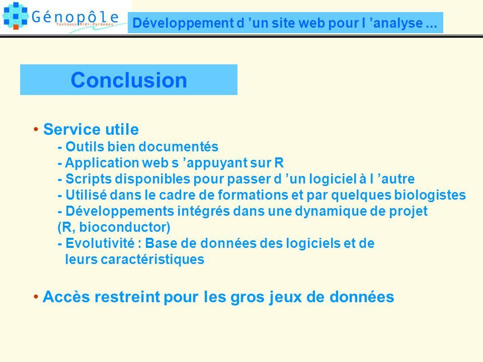 Développement d un site web pour l analyse...