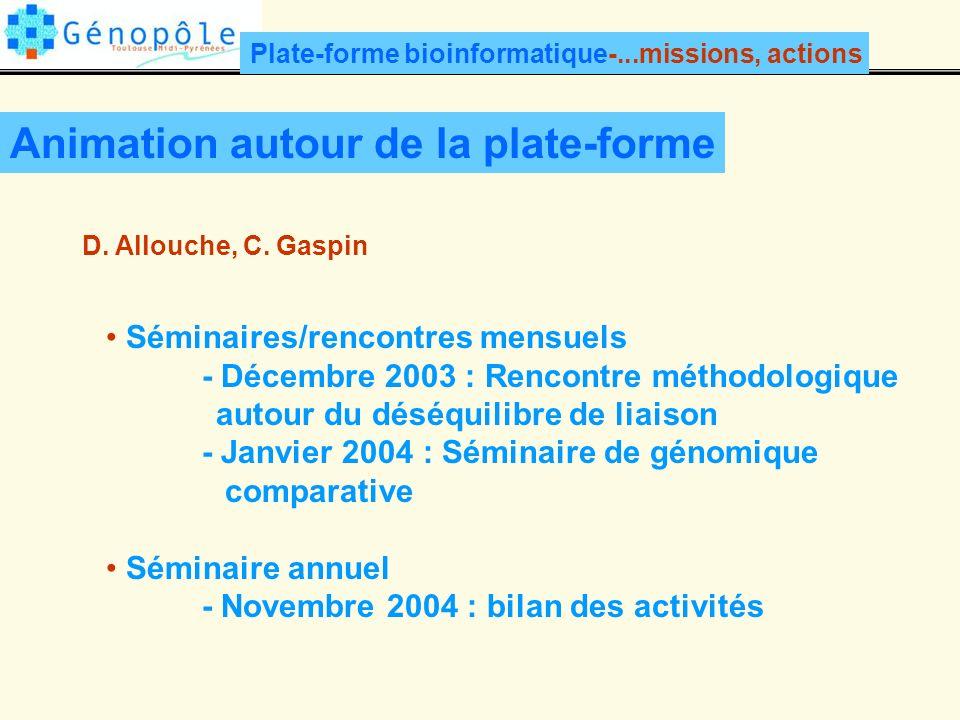 Animation autour de la plate-forme D.Allouche, C.