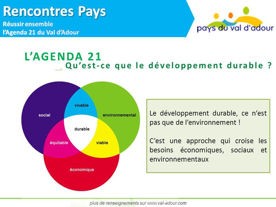 plus de renseignements sur www.val-adour.com Quest-ce que le développement durable .