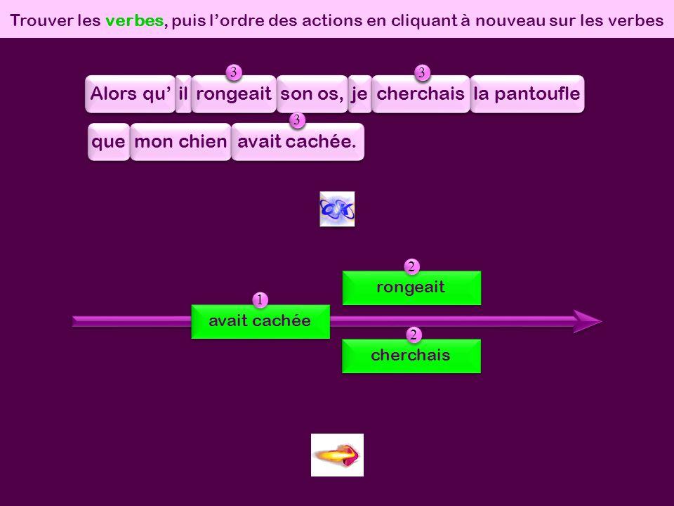 0 simult/success Trouver dabord les verbes, puis cliquer sur le point dinterrogation.