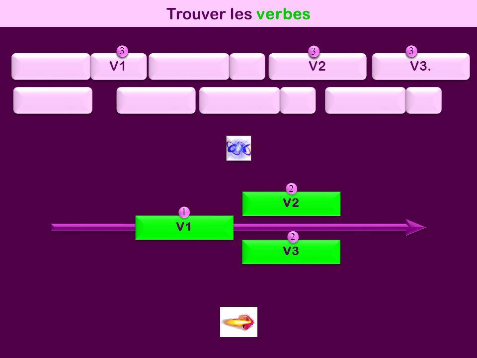 mod1 Trouver les verbes V1 V2 V3 1 1 2 2 3 3 V1 V2 V3. 1 1 2 2 3 3 1 1 2 2 3 3 1 1 2 2 3 3