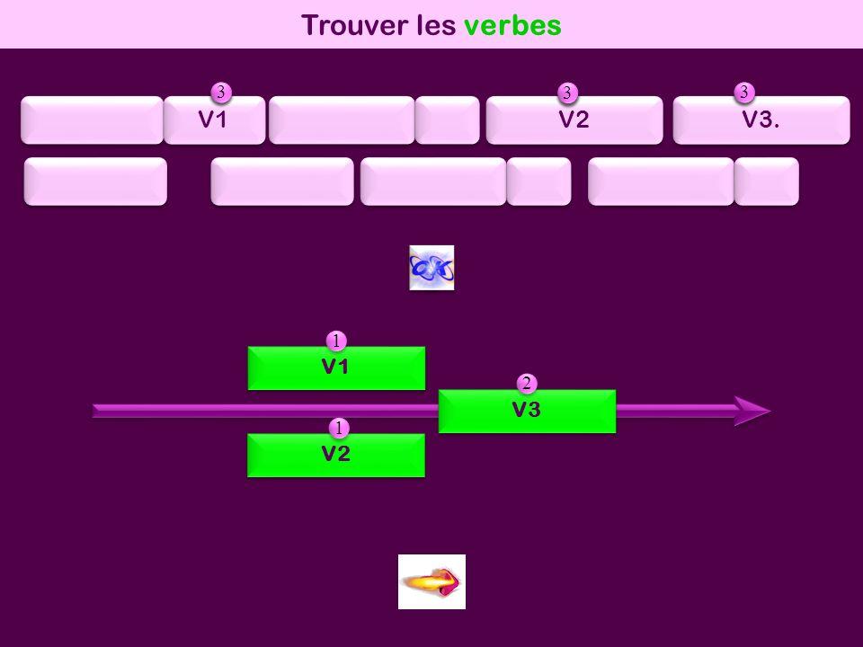 mod2 Trouver les verbes V1 V3 V2 1 1 2 2 2 2 V1 V2 V3. 1 1 2 2 3 3 1 1 2 2 3 3 1 1 2 2 3 3
