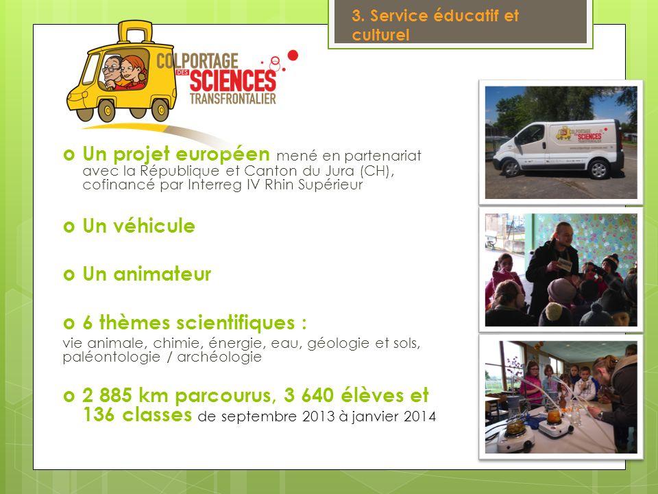 Un projet européen mené en partenariat avec la République et Canton du Jura (CH), cofinancé par Interreg IV Rhin Supérieur Un véhicule Un animateur 6