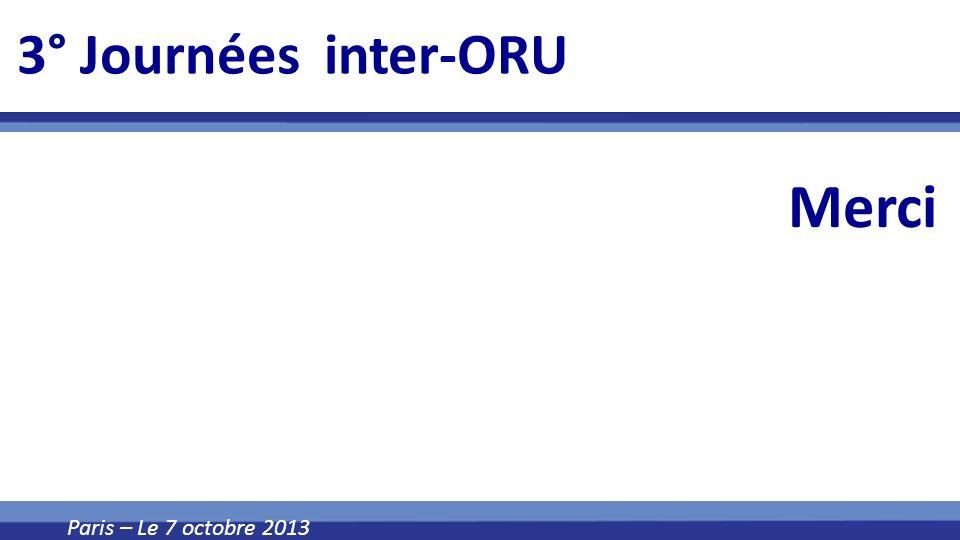 3° Journées inter-ORU Merci Paris – Le 7 octobre 2013