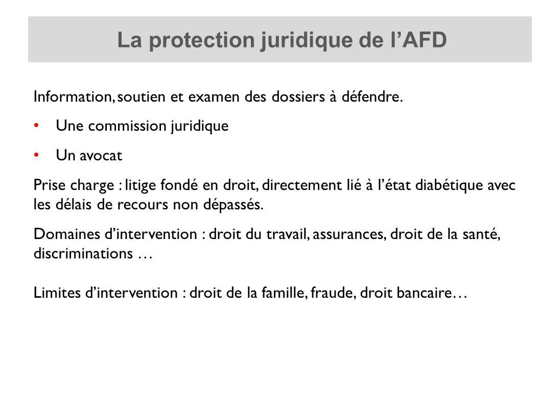 La protection juridique de lAFD Information, soutien et examen des dossiers à défendre.