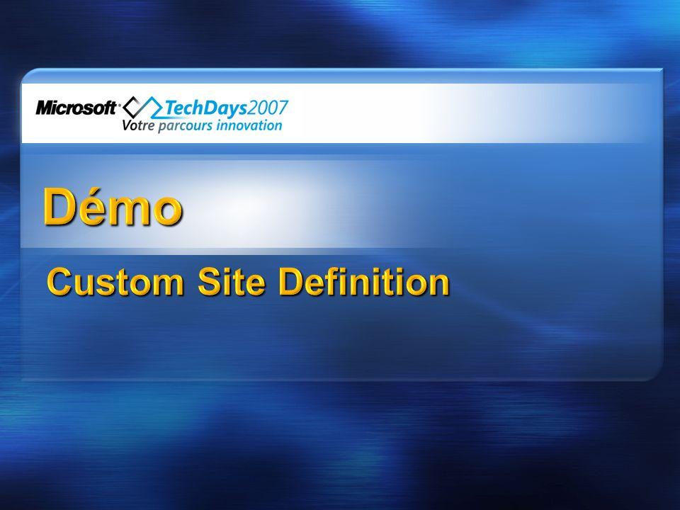 Composant élémentaire de personnalisation Etendre les sites existants ou à créer Simple à installer / déployer (UI ou command line) Visible ou Invisible