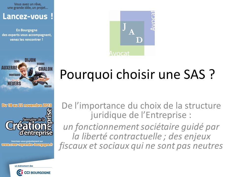Les aspects Juridiques La SAS parmi les autres formes sociétaires Société de capitaux Société par actions Laccès à la SAS : – Pas de capital minimum ; – la Société par actions simplifiée à associé unique