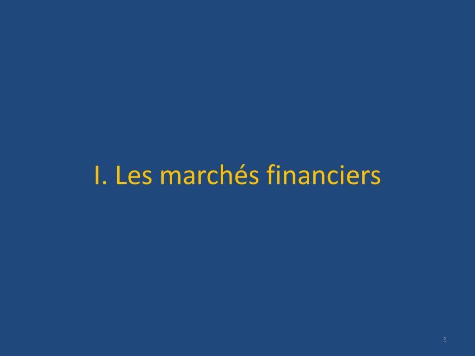 I. Les marchés financiers 3