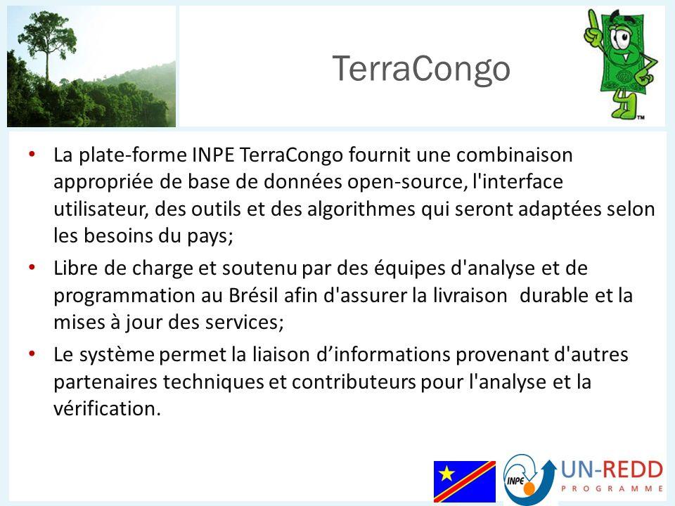 La plate-forme INPE TerraCongo fournit une combinaison appropriée de base de données open-source, l'interface utilisateur, des outils et des algorithm