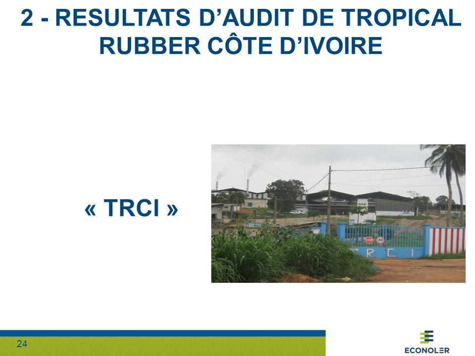 24 2 - RESULTATS DAUDIT DE TROPICAL RUBBER CÔTE DIVOIRE « TRCI »