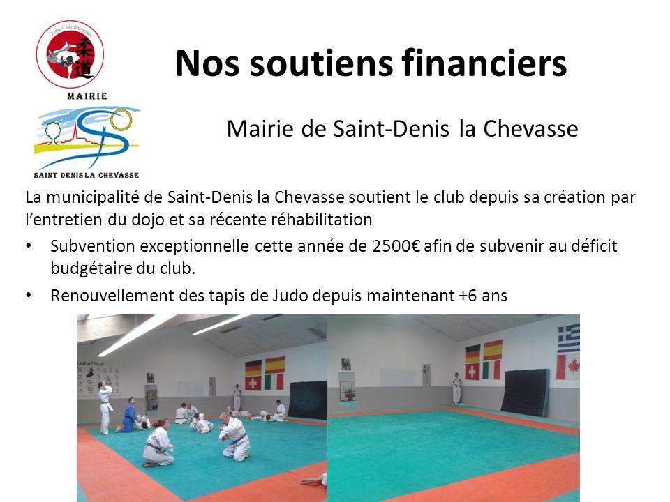 Nos soutiens financiers Mairie de Saint-Denis la Chevasse La municipalité de Saint-Denis la Chevasse soutient le club depuis sa création par lentretie