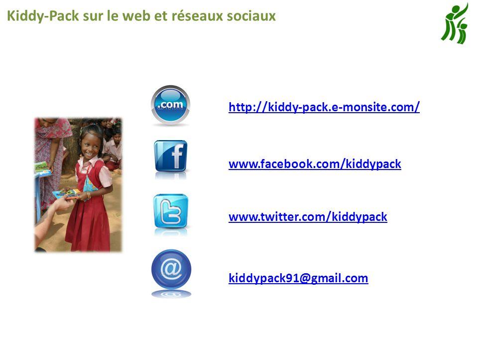 Kiddy-Pack sur le web et réseaux sociaux www.facebook.com/kiddypack http://kiddy-pack.e-monsite.com/ kiddypack91@gmail.com www.twitter.com/kiddypack