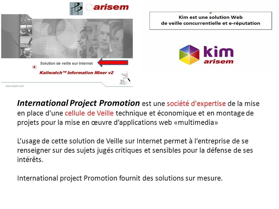 International Project Promotion est une société d'expertise de la mise en place d'une cellule de Veille technique et économique et en montage de proje