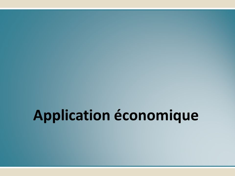 Application économique